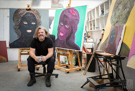 Portrait of  Margate Artist, Hedley Roberts for Margate Mercury