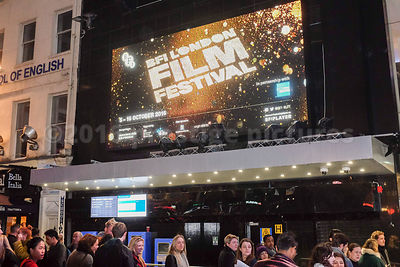 BFI London Film Festival Sign at the Odeon Leicester Square