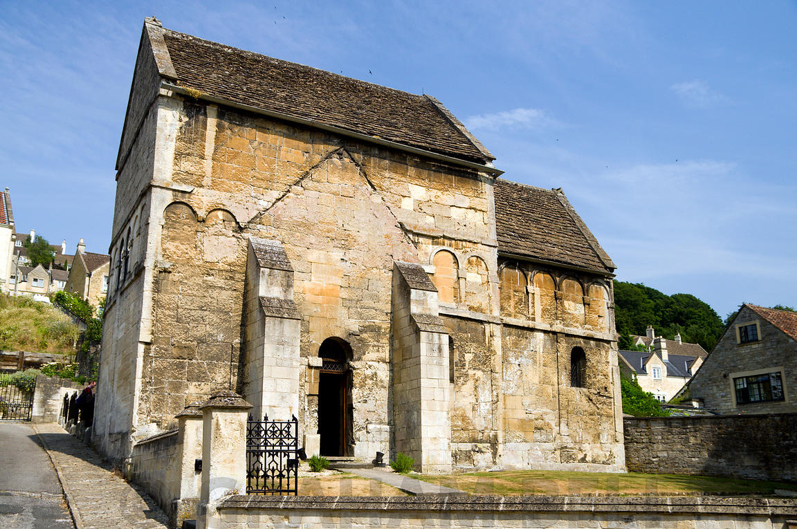 Saint Laurences 10th century Saxon church, Bradford on Avon, Wiltshire, England.