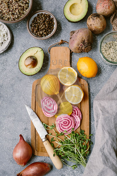 Ingredients for Spring Abundance Bowl