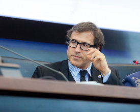 "Film director David O. Russell gives a talk to students at ""La Sapienza"" University of Rome, Rome, Italy."
