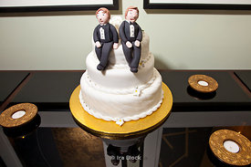 Gay couple wedding in New York.