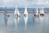 Dinghies on marine lake, West Kirby