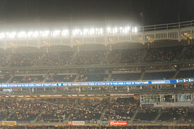 Downpour at Yankee Stadium