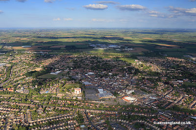 aerial photograph of Spalding Lincolnshire England UK.