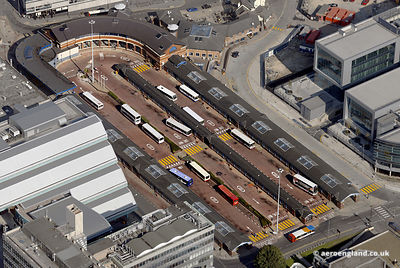 aerial photograph of  .Sheffield  Interchange