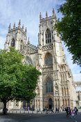 York Minster, historic cathedral in the City of York, UK.