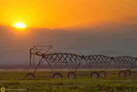 Irrigration Boom at Sunset #4