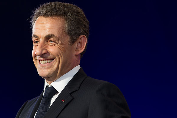 Cernay: France's President Nicolas Sarkozy  meeting for presidential 2012 elections