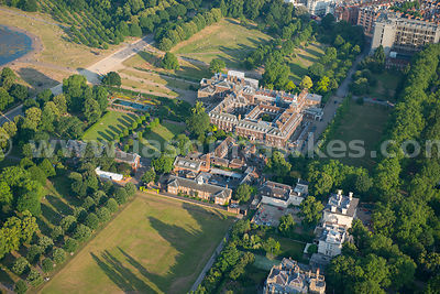 Aerial view of Kensington Palace, London