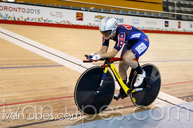 Women's 500m Time Trial C1-5, Track Day 1, Toronto 2015 Parapan Am Games, Milton Pan Am/Parapan Am Velodrome, Milton, On; August 10, 2015