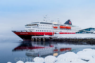 "Hurtigruten Ship ""Richard With"" in Kirkenes"