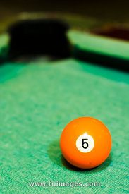 orange billiard ball