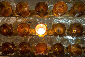 Candles at St. Patrick's Cathedral IN New York.