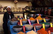 spices for sale, Souq, market, Aswan, Egypt