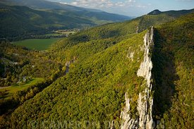Aerial photograph of Seneca Rocks, West Virginia