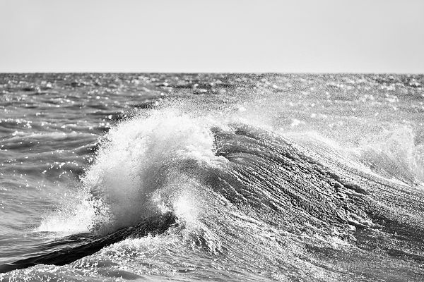WAVE LAKE MICHIGAN CHICAGO BLACK AND WHITE
