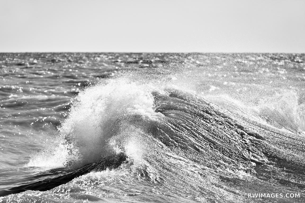 Photo print of wave lake michigan chicago black and white for Large photographic prints for sale