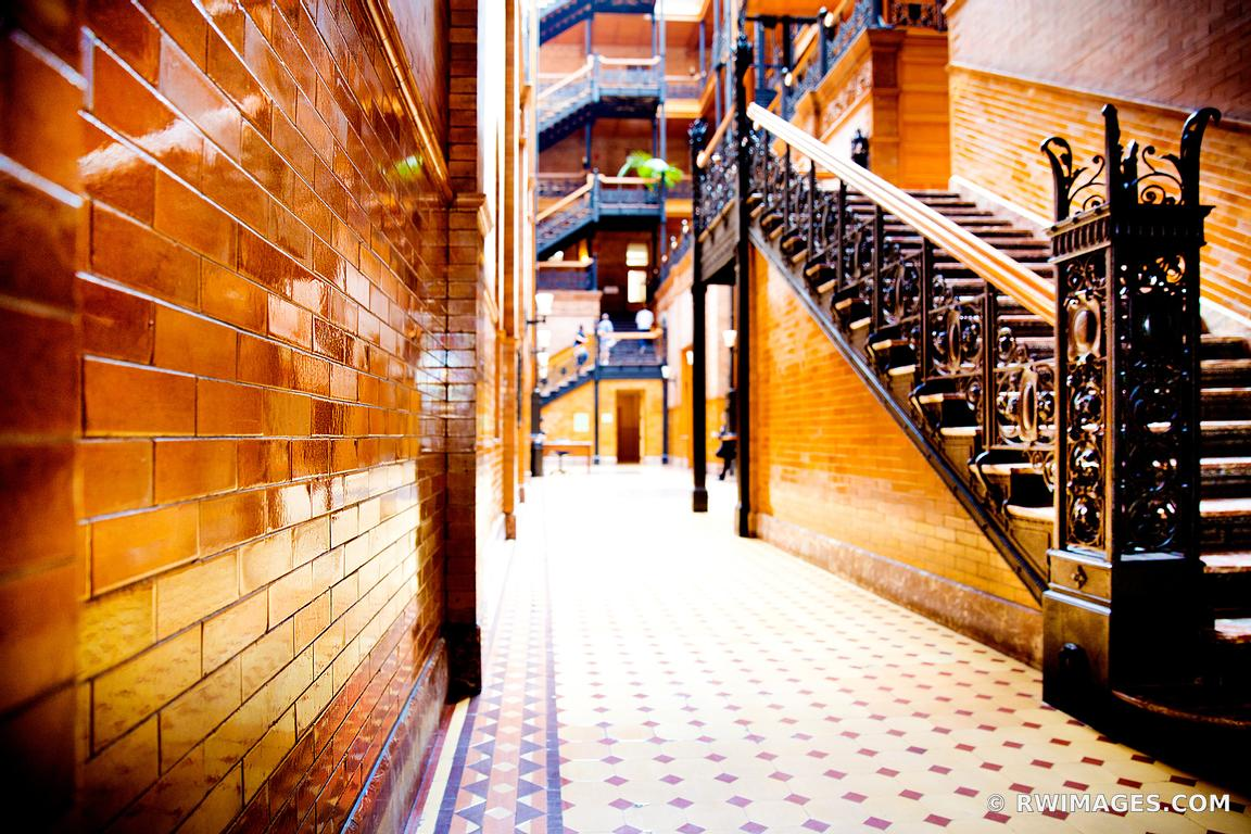 BRADBURY BUILDING HISTORIC LOS ANGELES CALIFRONIA ARCHITECTURE