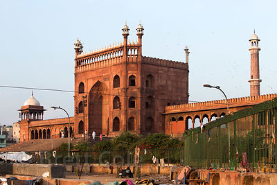 Jama Masjid, one of the most important Mosques in Delhi, India. Old Delhi radiates out from the mosque.