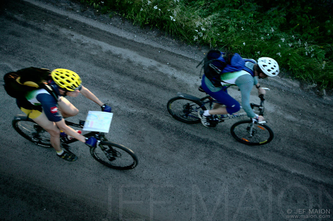 Mountain biking in adventure racing competition