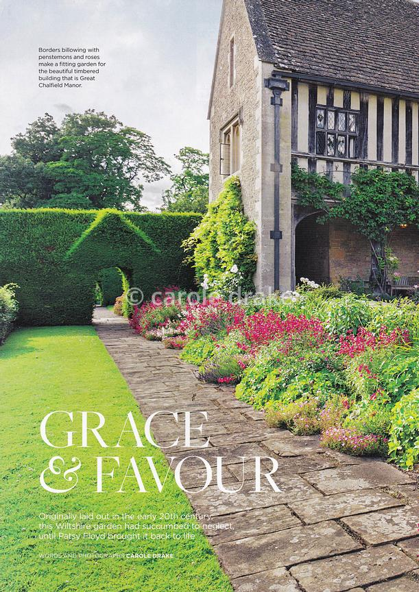 Great Chalfield Manor, The English Garden, August photographs