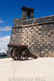 Castello De San Gabriel now housing the History Museum of Arrecife, Lanzarote, Canary islands, Spain.
