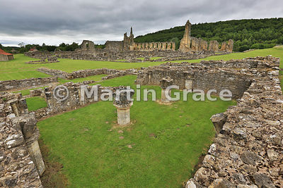 Byland Abbey (1155-1195) from the south-east, North Yorkshire, England