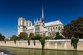 Notre Dame cathedral and the Seine, Paris