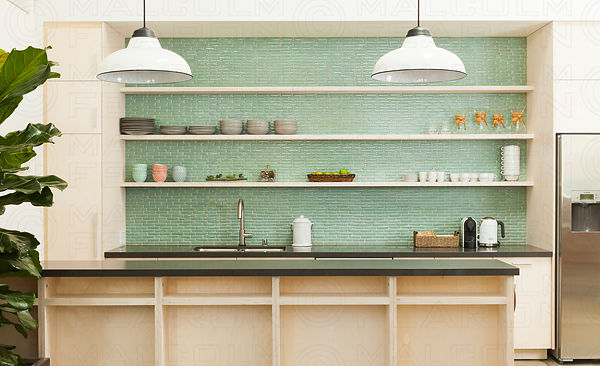 fireclay tile glass tile kitchen backsplash