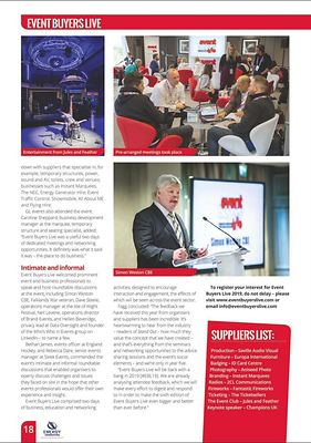 Stand Out magazine - Event Buyers Live - page 18 - February 2018