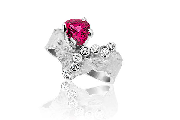 high jewellery , watches and still life photographer in London United Kingdom Red Spinelle Ring