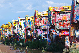 Cadillac Ranch in Amarillo, Texas (Stanley Marsh creation)