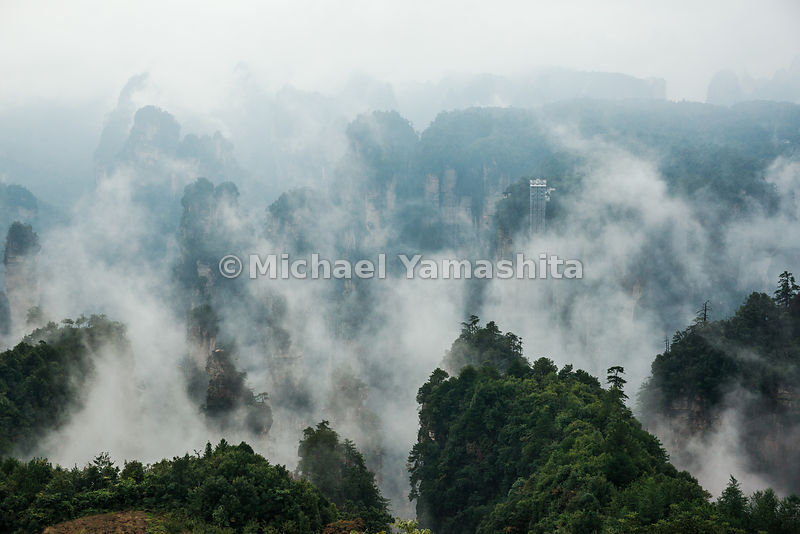 Wulingyuan National Forest Park, World Heritage site, where Avatar was filmed. Pics of Rice Paddy in the Sky.