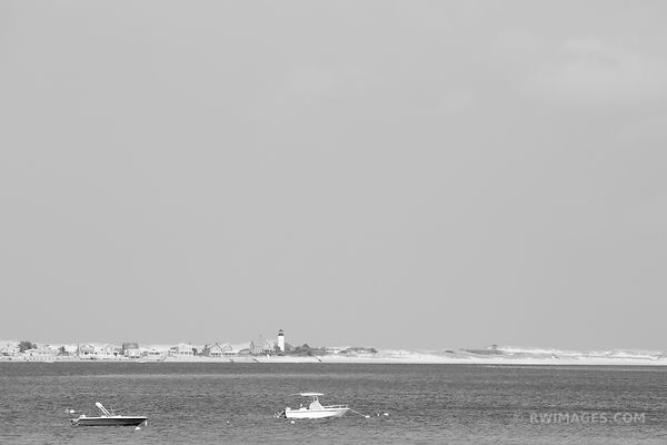 SANDY NECK HARBOR BARNSTABLE MASSACHUSETTS BLACK AND WHITE