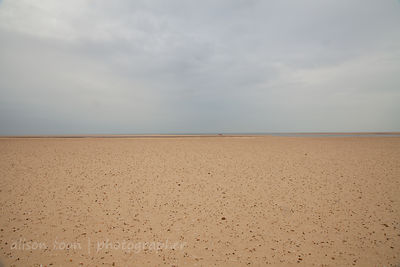 Beach on a calm, grey day