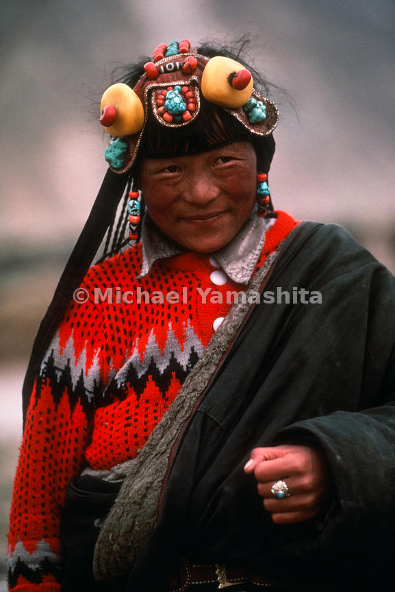 Portrait of a woman. China