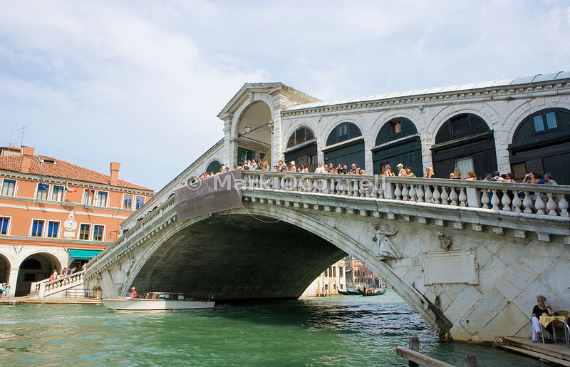 Rialto Bridge. Venice Grand canal