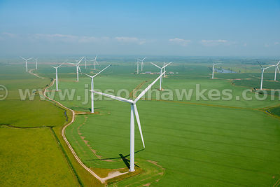 Aerial view of Wind Farm, Kent