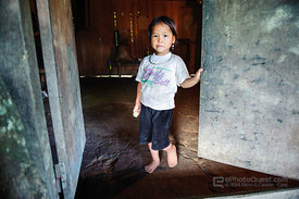 Young Black Hmong Girl at Door