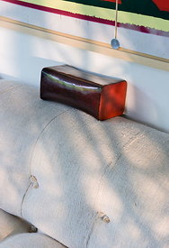 Lacquered pillow
