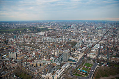 London. Aerial view of Marylebone