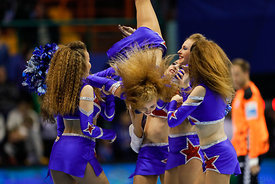 Cheerleaders during the Final Tournament - Final Four - SEHA - Gazprom league, Bronze Medal Match Meshkov Brest - PPD Zagreb, Belarus, 09.04.2017, Mandatory Credit ©SEHA/ Stanko Gruden..