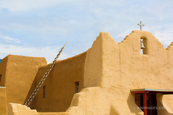 SAN LORENZO CHURCH PICURIS PUEBLO NEW MEXICO