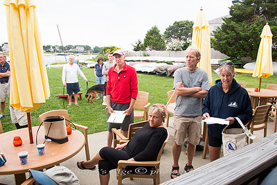 Leo at Bass River - skippers' meeting photos