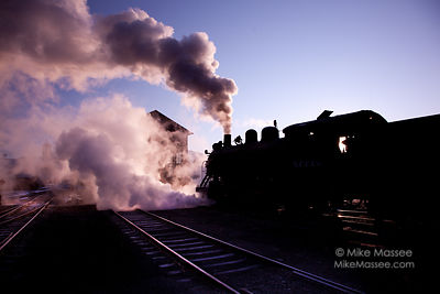 Nevada Northern Railway #40 at sunrise