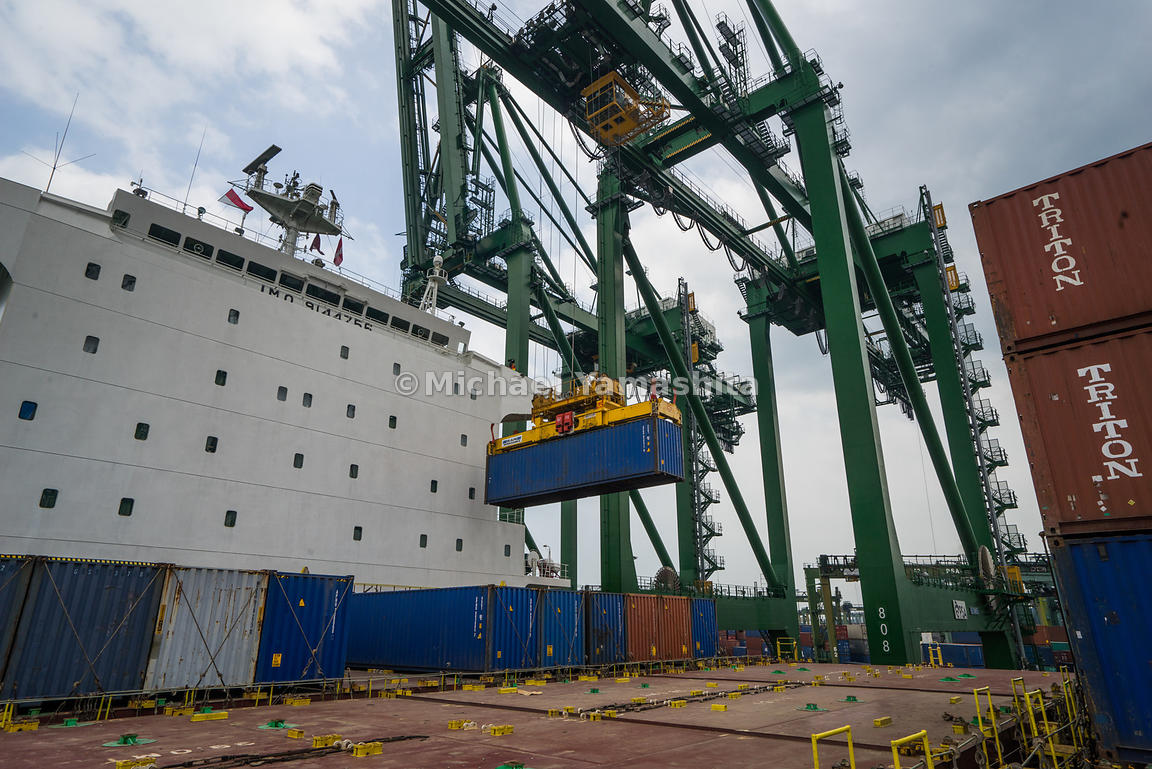Quay cranes can move hundreds of boxes in only a few hours. Speed is key to meeting the demands of global transshipment.