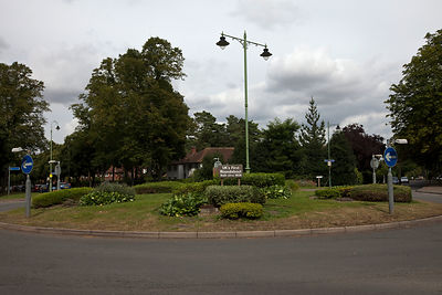 UK - Letchworth Garden City - The United Kingdom's first traffic roundabout (built 1909)  in Letchworth, the world's first Garden City designed by Ebenezer Howard to marry the best of urban and rural living.