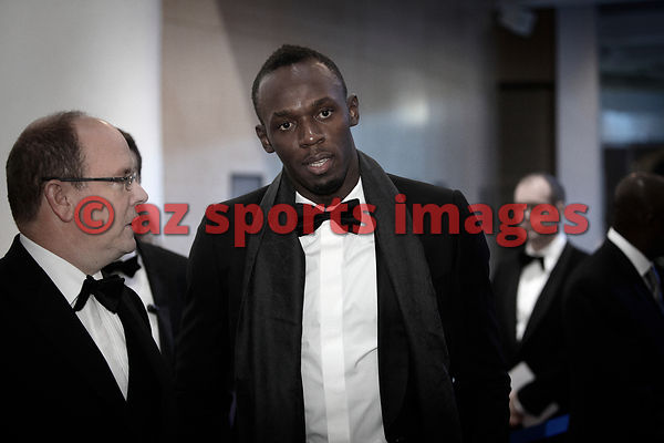Prince Albert II of Monaco and Usain Bolt