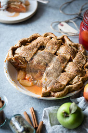 Apple and quince lattice pie. Gluten free.